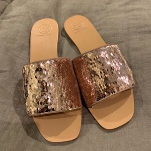 Tory Burch Sequin Slides!
